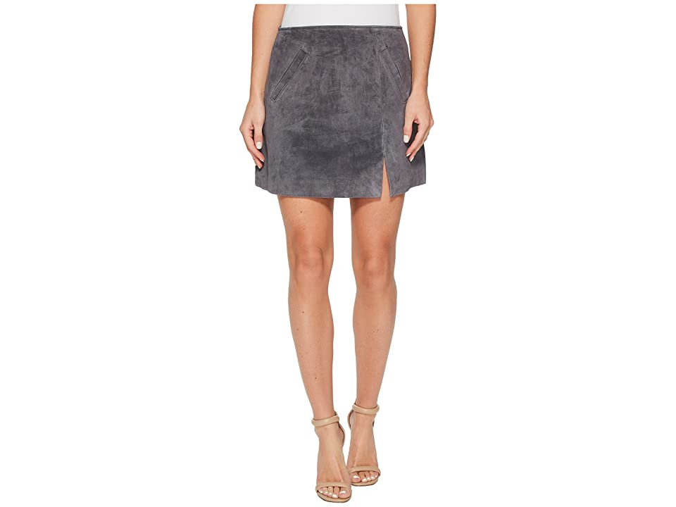 Blank NYC Grey Suede Mini Skirt in Star Gazer (Star Gazer) Women