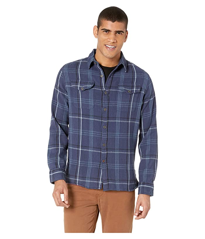 Iron and Resin Meridian Flannel Shirt (Sea Blue) Men