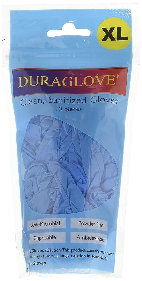 凍る同じ電圧Uniwareニトリル使い捨て抗菌Sanitized手袋、ブルー XL ブルー