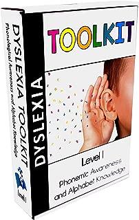 Dyslexia Toolkit   Best Tool Kit for Teaching Kids Phonemic Awareness & Alphabet Knowledge   Flash Cards, Games & Book for Home & School   Preschool, Kindergarten, 1st Grade & Up Reading Curriculum