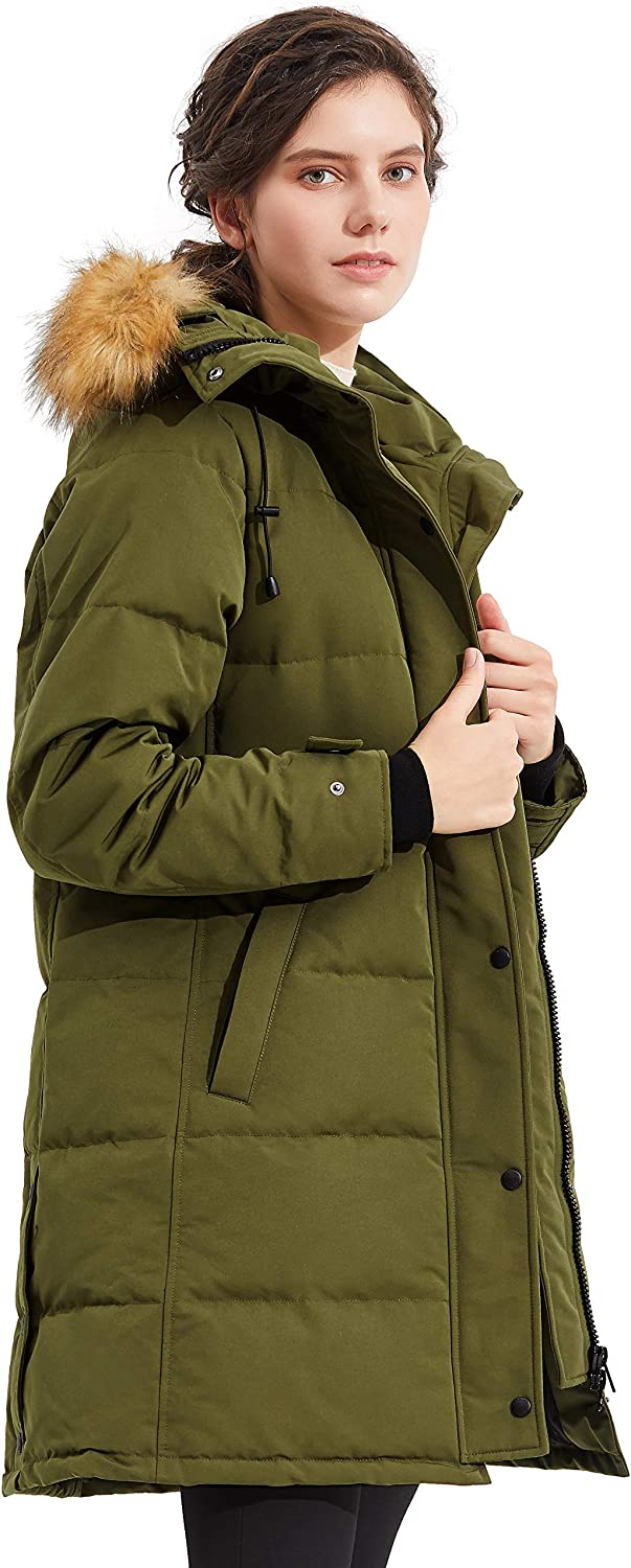 Orolay Women/'s Thickened Down Coat with Adjustable Hood Warm Winter Jacket