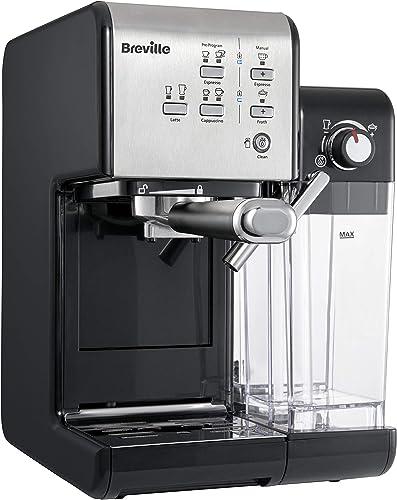 Breville Prima Latte II machine à café espresso, latte et cappuccino | pompe professionnelle 19 bars et mousseur à la...