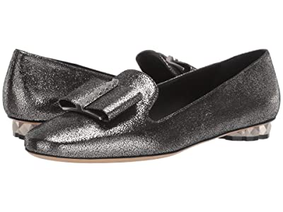 Salvatore Ferragamo Sarno Bow Loafer (Silver Metallic) Women