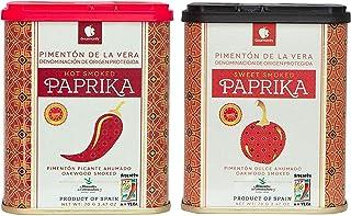 Gourmanity Spanish Smoked Paprika Sweet & Hot Twin Pack - Pimenton de La Vera Dulce - Pimenton De La Vera Picante - La Dal...