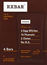 product image for RXBAR Real Food Protein bar, Peanut Butter Chocolate, Gluten Free, 1.83oz Bars, 4Count, 1.83 oz