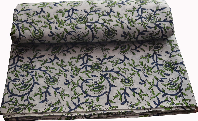 5 ☆ very popular WTS Dressmaking Fabric Max 80% OFF Handmade Cotton f Print Hand Block