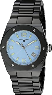 Swiss Legend Women's 10054-BKBLTSA Throttle Analog Display Swiss Quartz Black Watch