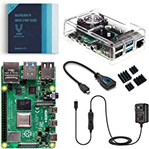 Vilros Raspberry Pi 4 Basic Kit with Fan Cooled Case (2GB)