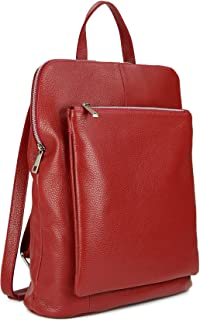 Belli Backpack Seattle ital. Damen Rucksack Leder Handtasche Cross Body Bag 3in1 - Farbauswahl - 29x32x11 cm B x H x T