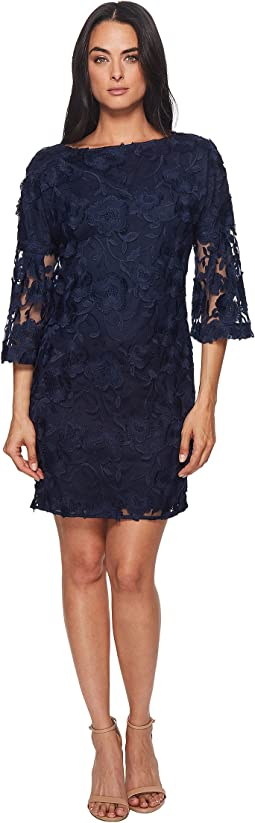 Badgley Mischka - Lace Bell Sleeve Dress
