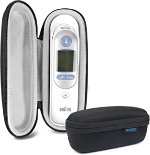 Thermoscan Case for Braun Thermoscan 7 IRT6520 & Braun Digital Ear Thermometer ThermoScan 5 IRT6500, EVA Hard Travel Storage Case