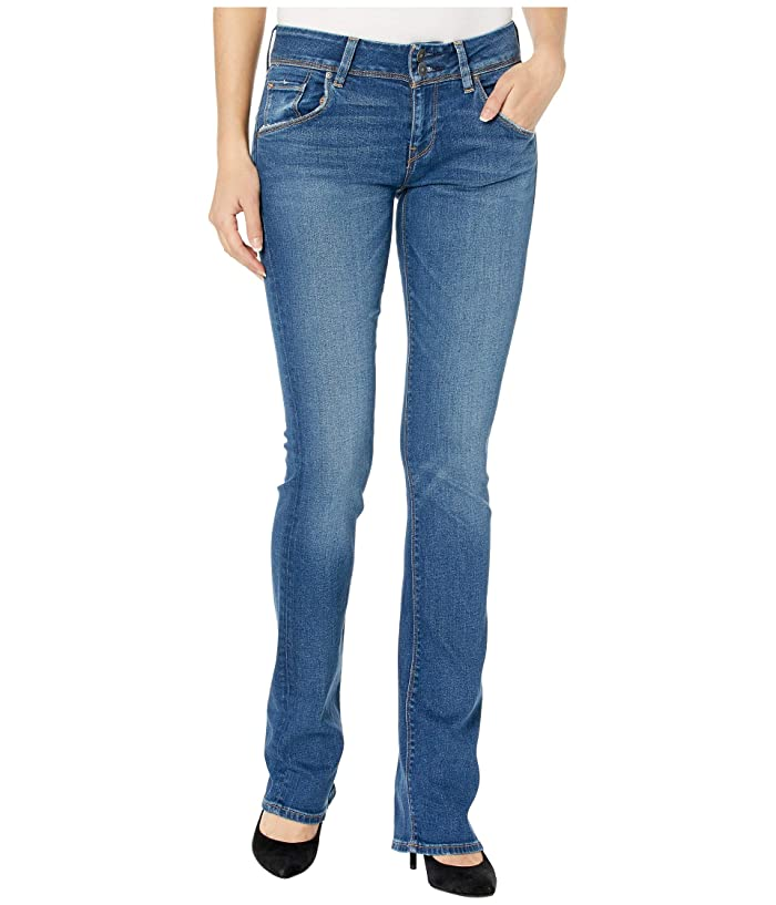 HUDSON Womens Beth Mid-Rise Baby Bootcut Back Flap Pocket Jean