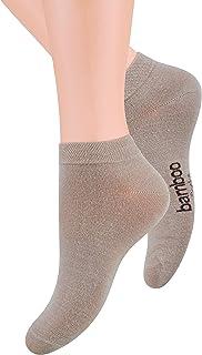 Steven, Calcetines de bambú de corte extra bajo para mujer, gris, EU35-37/UK2-4