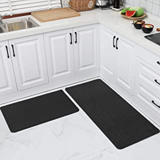 COSY HOMEER 24x35 Inch/24X60 Inch Kitchen Rug Mats Made of 100% Polypropylene Strip TPR Backing 2 Pieces Soft Kitchen Mat ...
