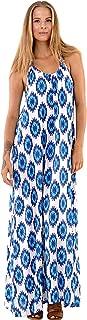 SHU-SHI Womens Sleeveless Bohemian Summer Maxi Dress Casual Long Beach Dresses