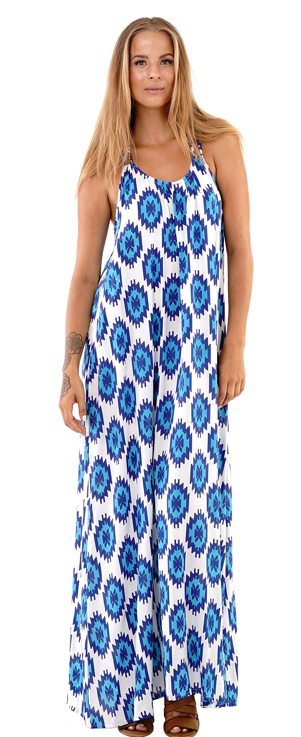 Available at Amazon: SHU-SHI Women's Sleeveless Bohemian Summer Maxi Dress Casual Long Beach Dresses