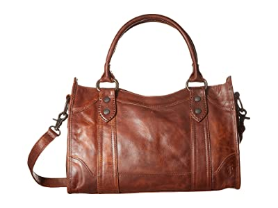 Frye Melissa Satchel (Cognac Antique Pull Up) Satchel Handbags