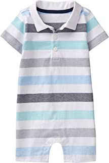 Gymboree Baby Boys Short Sleeve Striped Polo Onesie
