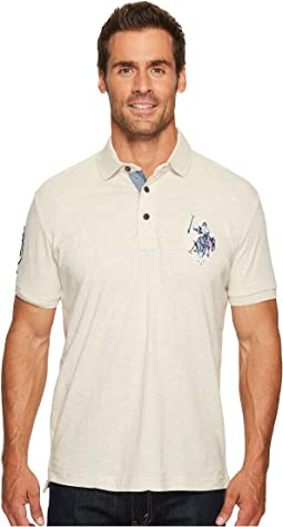 Slim Fit Solid Short Sleeve Jersey Polo Shirt