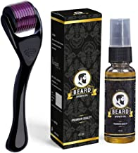 HINMIN™ Beard Oil with Derma Roller For Men, Growing Fast Beard Hair Growth, 45ml