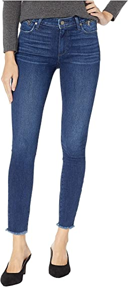 Hoxton Ankle Jeans w/ Waist Zipper Heavy Fray + Raw Hem in Avalie