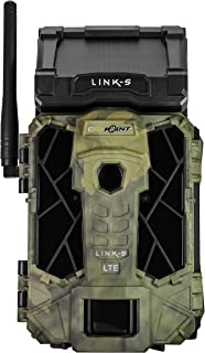SPYPOINT LINK-S Solar Cellular Trail Camera, 4G/LTE, 12MP HD Video, PATENTED Solar Panel, Blur Reduction&IR Boost, 0.07s Trigger, 100' Detect/Flash ((1) LINK-S)