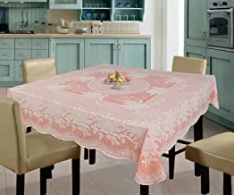 Katwa Clasic - 54 x 54 Rose Lace Vinyl Tablecloth (Orange)