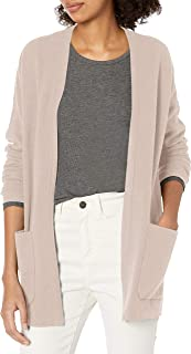 Marchio Amazon - Daily Ritual - Ultra-soft Milano Stitch Patch Pocket Long Cardigan Sweater, cardigan-sweaters Donna