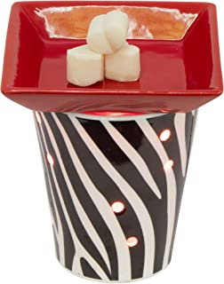 EVELINA Zebra Bold Table Top Scent Melt Warmer