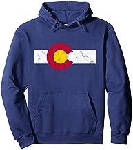Colorado Flag Hoodie Sweatshirt vintage Distressed