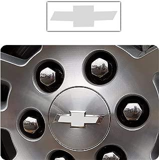 Bogar Tech Designs - Pre Cut Center Wheel Cap Vinyl Decal Sticker Compatible with Chevy Silverado 2019, Matte White