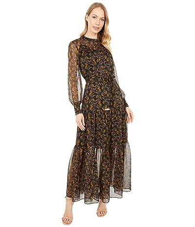 Ted Baker Deco Printed Long Sleeve Maxi Dress Women