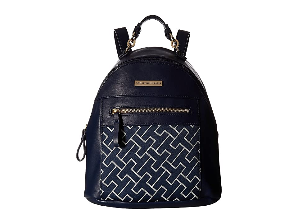 Tommy Hilfiger Claudia Dome Backpack (Navy/White) Backpack Bags