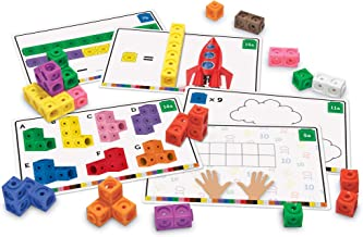 Learning Resources Early Math Mathlink Cube Activity Set, Math Cubes, Early Math Skills, 115 Pieces, Ages 4+