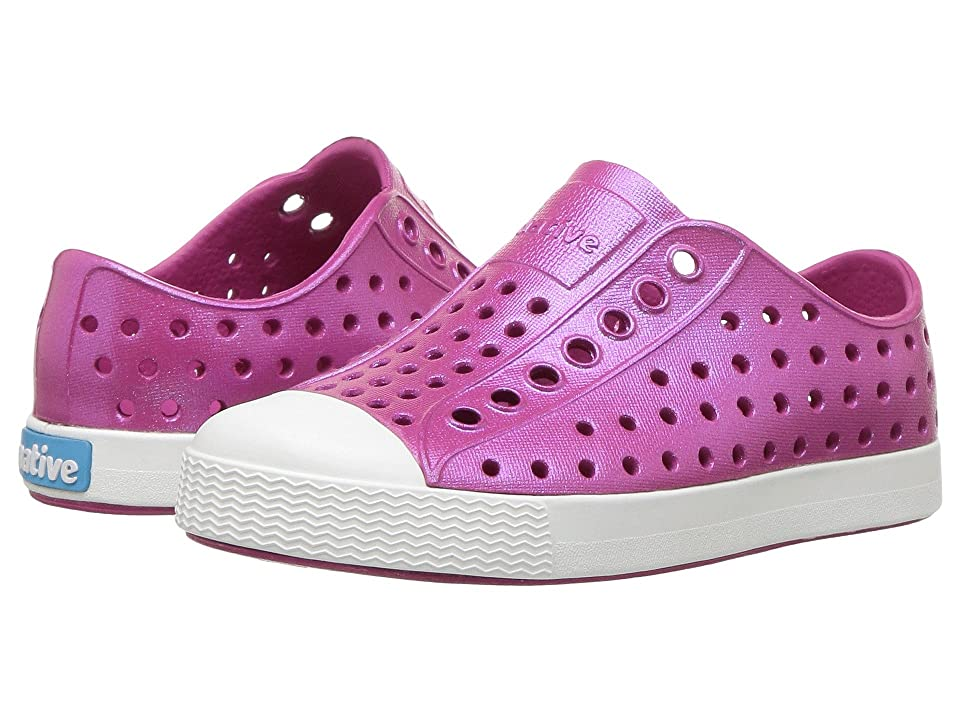 Native Kids Shoes Jefferson Iridescent (Toddler/Little Kid) (Resort Pink/Shell White/Galaxy) Girls Shoes