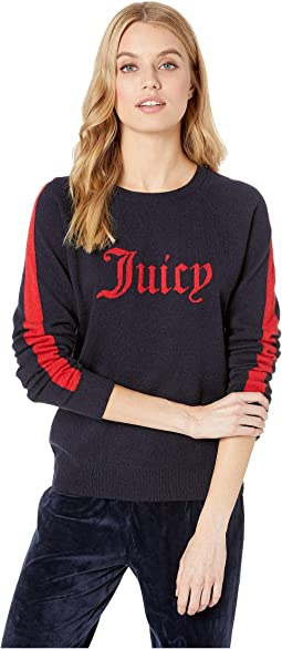 Sweater Cashmere Juicy Color Block Pullover