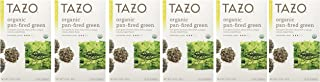 Tazo Organic Pan-Fired Green Tea, 20-Count Teabags (Pack of 6)