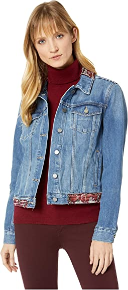 Tapestry Patchwork Classic Denim Jacket