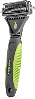 Petio Basics Pet Grooming Dematting Deshedding Comb with 2-Sided Rake Removes Tangles and Matted Hair from Dogs and Cats
