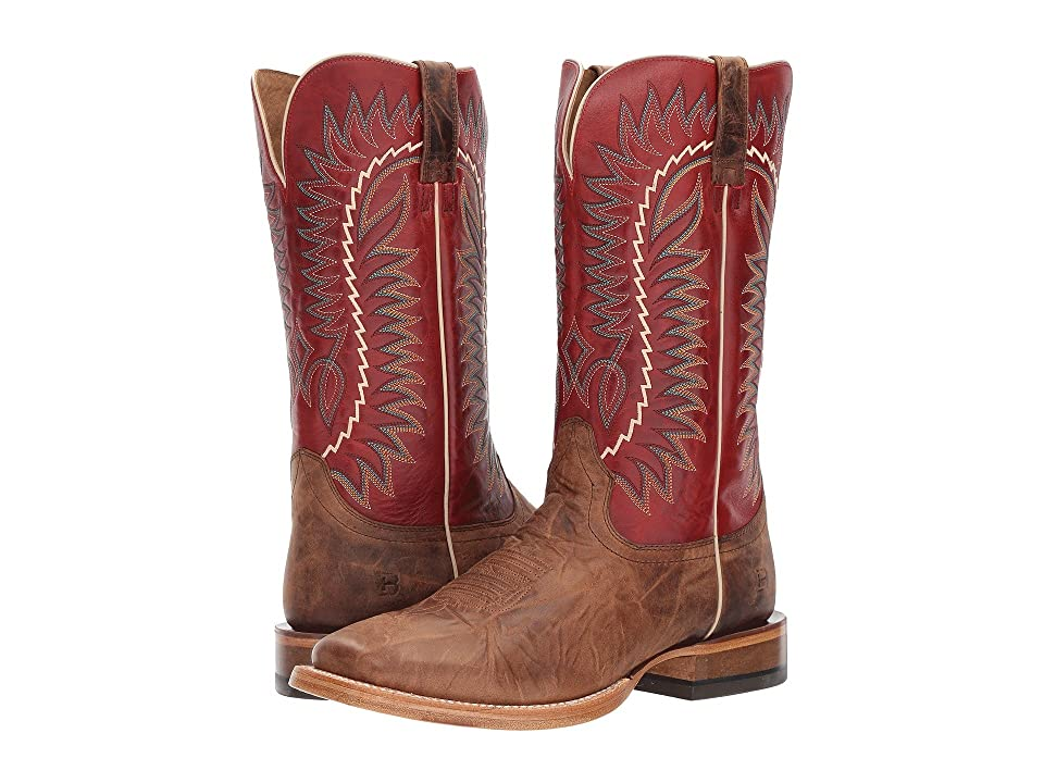 Ariat Relentless Elite (Dust Devil Tan/True Red) Cowboy Boots