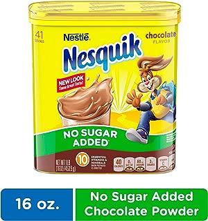 NESQUIK No Sugar Added Chocolate Cocoa Powder, 16 Oz. Tub | Chocolate Milk Powder