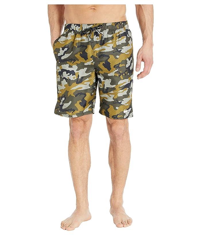 Nike  9 Camo Vital Volley Shorts (Medium Olive) Mens Swimwear