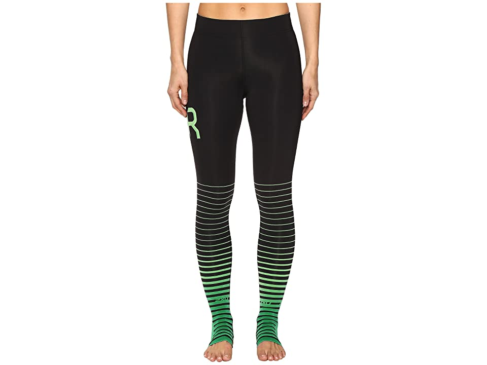 65d32b246d7688 ... EAN 9336340566816 product image for 2XU - ELITE Recovery Compression  Tights (Black/Green)