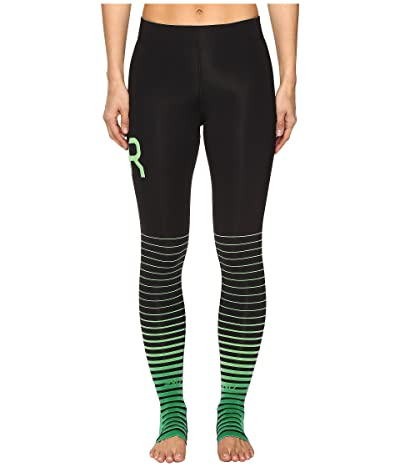 2XU ELITE Recovery Compression Tights (Black/Green) Women