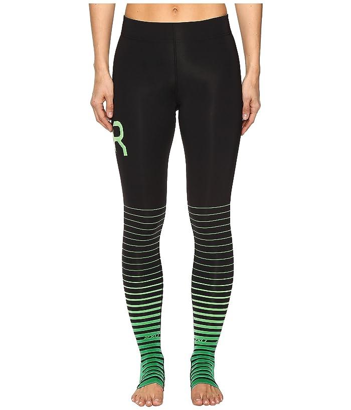 2XU ELITE Recovery Compression Tights (Black/Green) Women