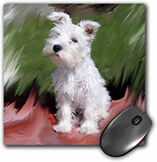 3dRose LLC 8 x 8 x 0.25 Inches White Schnauzer Mouse Pad (mp_4826_1)