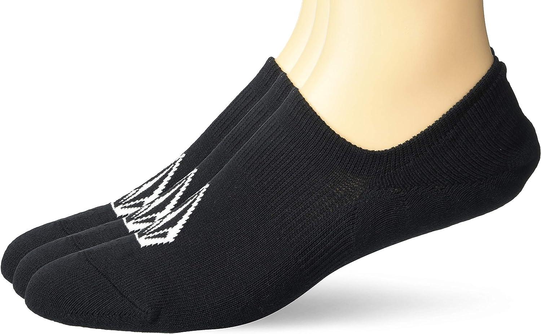 Volcom mens No Show Stone Sock 3-pack