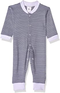 Papillon Striped Long Sleeves Snap Closure Cotton Jumpsuit for Boys