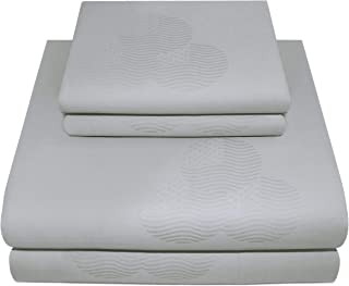 300 Thread Count Tradition Jacquard Collection 100% Cotton Sheets 4 Piece Bedsheet Set Fits Mattresses up to 18 inches dee...
