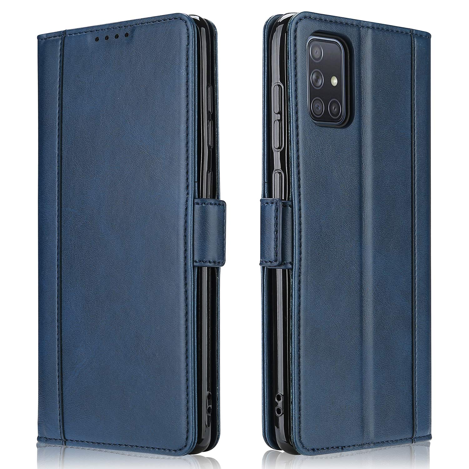 Amazon.com: ProCase Galaxy A51 Case 2020, Vintage Wallet Foldable Magnetic Protective Cover with Card Holders and Kickstand for Galaxy A51 (SM-A515F/DS) -Navy: Electronics